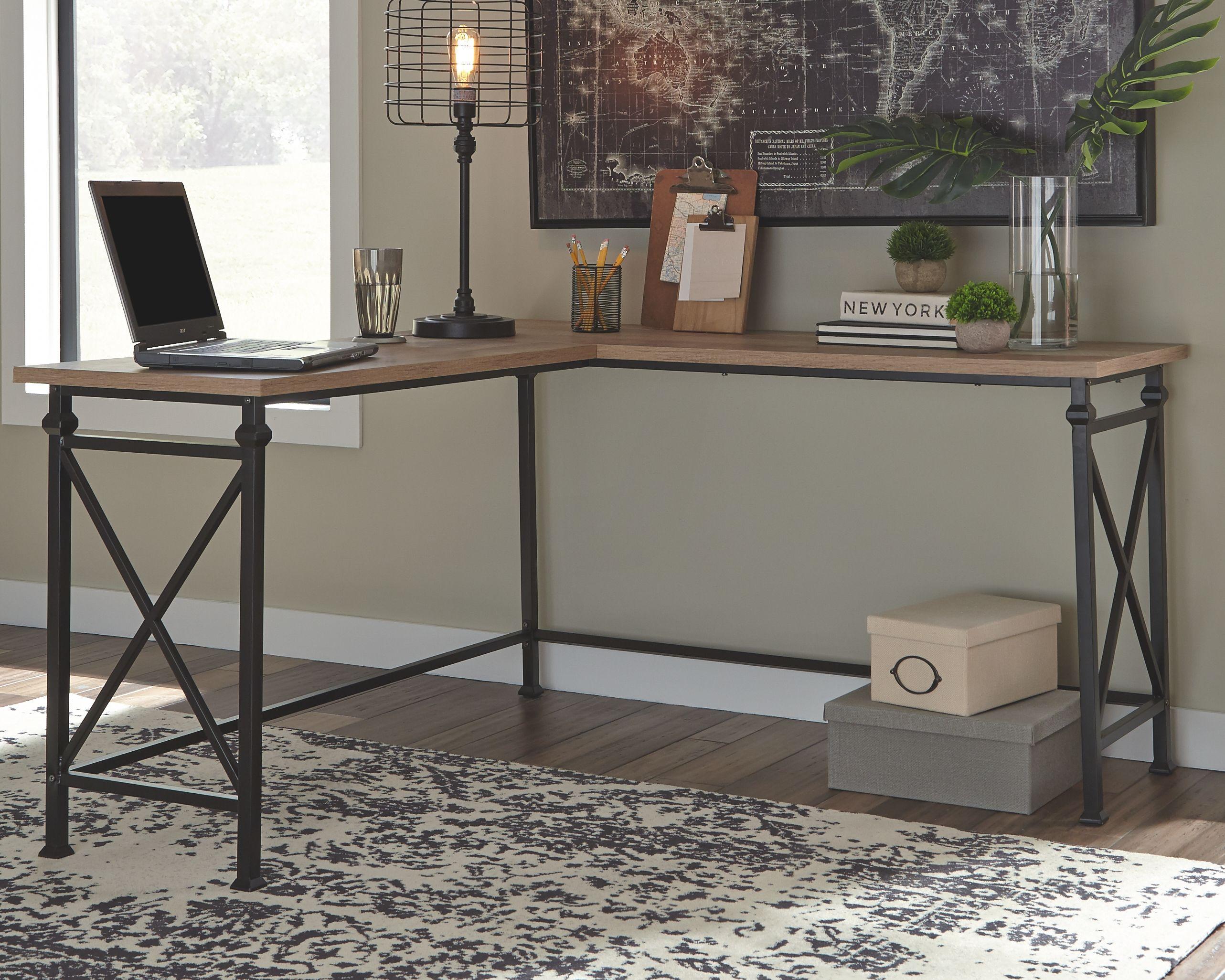 Jaeparli Home Office L Desk Ashley Furniture Homestore In 2021 Home L Desk Home Office