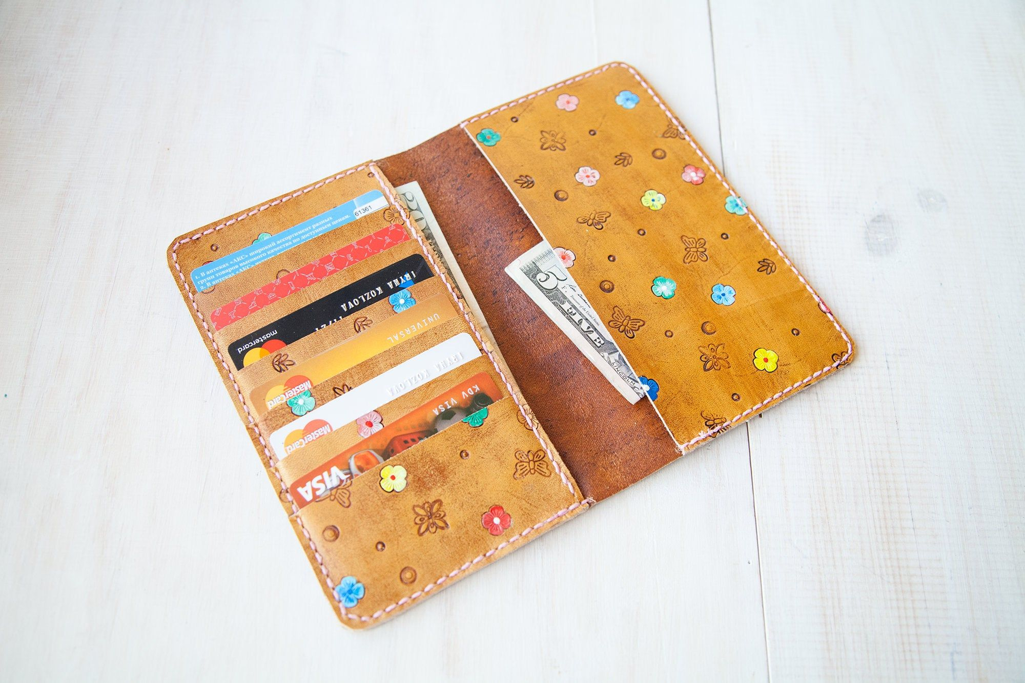 Card wallet women big card holder minimalist wallet