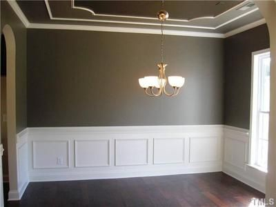 Idea for wainscoting in the dining room 3141 for Dining room ceiling paint ideas