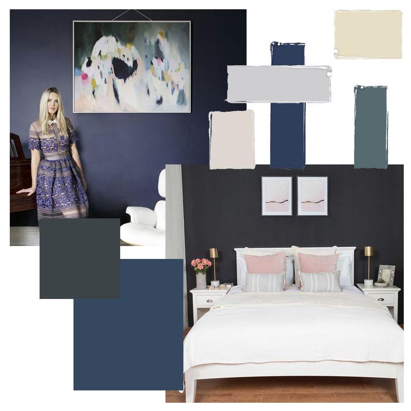 blue colour palette mood board room inspiration bedroom gatsby blu ...