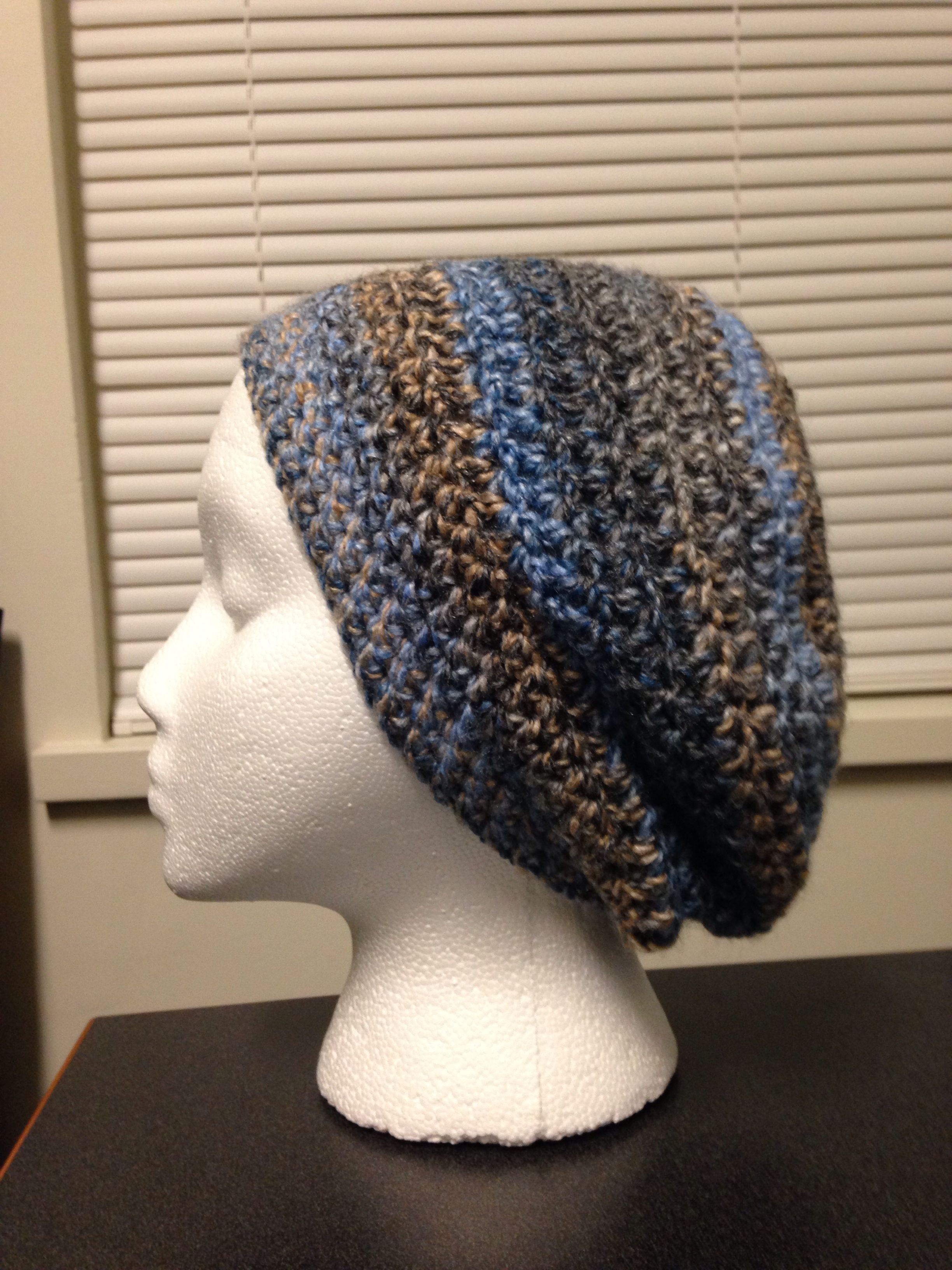 Crocheted Slouchy Beanieberet Made With James C Brett Marble Chunky