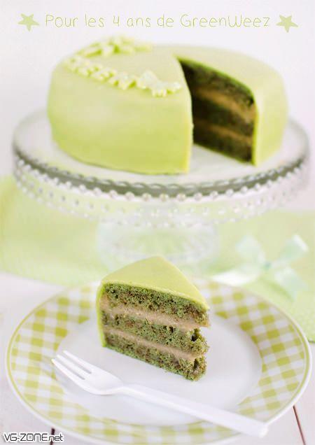g teau au th vert matcha et cr me de banane desserts pinterest matcha matcha green tea. Black Bedroom Furniture Sets. Home Design Ideas
