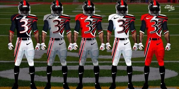 Atlanta Falcons New Uniforms Think These Look Really Cool Will Likely Never Happen But Cool To Football College Football Uniforms Personalized Football