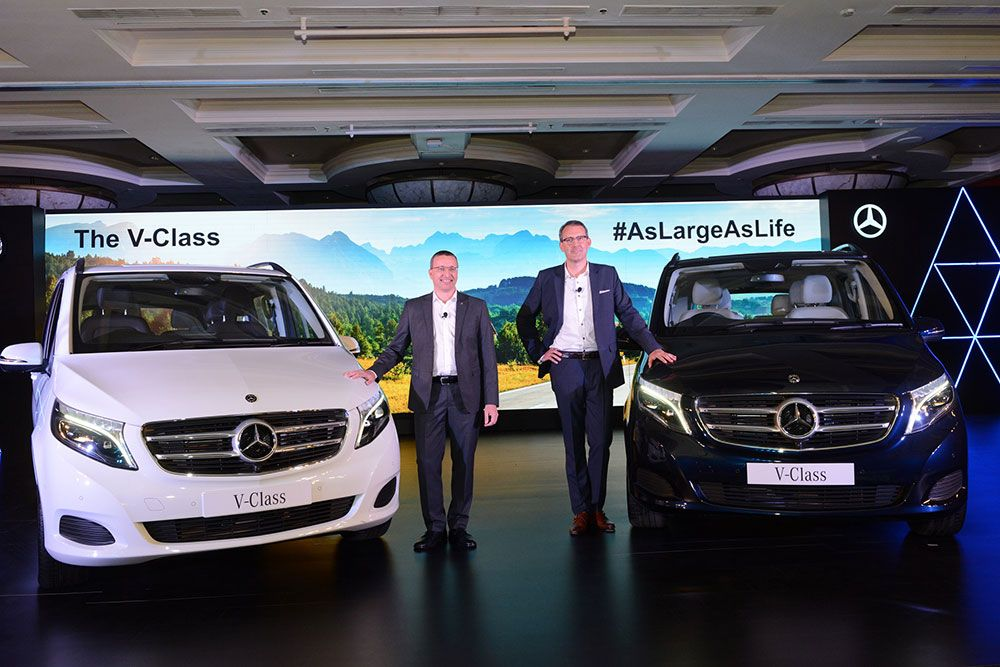 Mercedes Benz Introduces V Class In India Creates Luxury Mpv