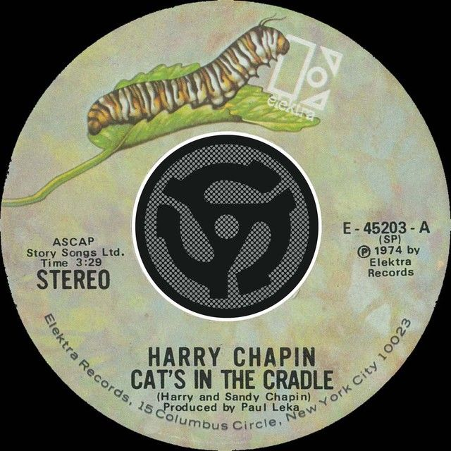 Saved On Spotify Cats In The Cradle 45 Version By Harry Chapin Cats Cradle Chapin Songs