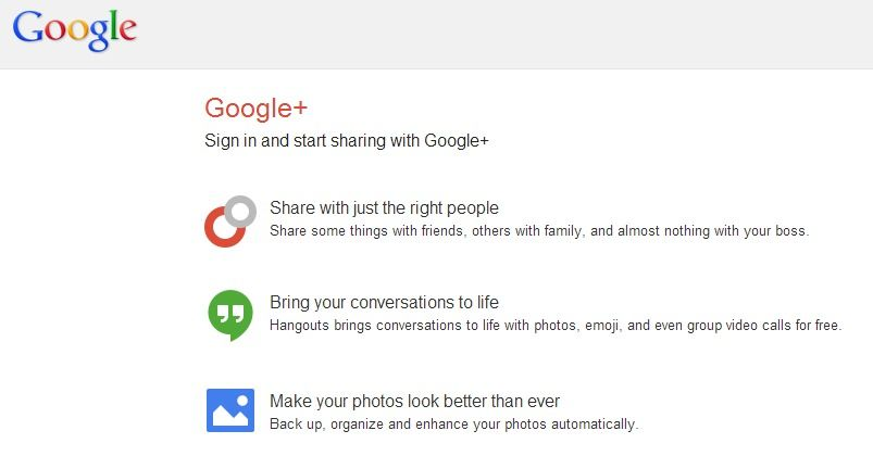 Google+ - Like Facebook, you can share photos, video, etc and