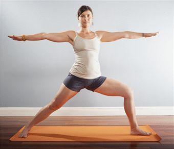 warrior ii pose  virabhadrasana ii big asana yogini