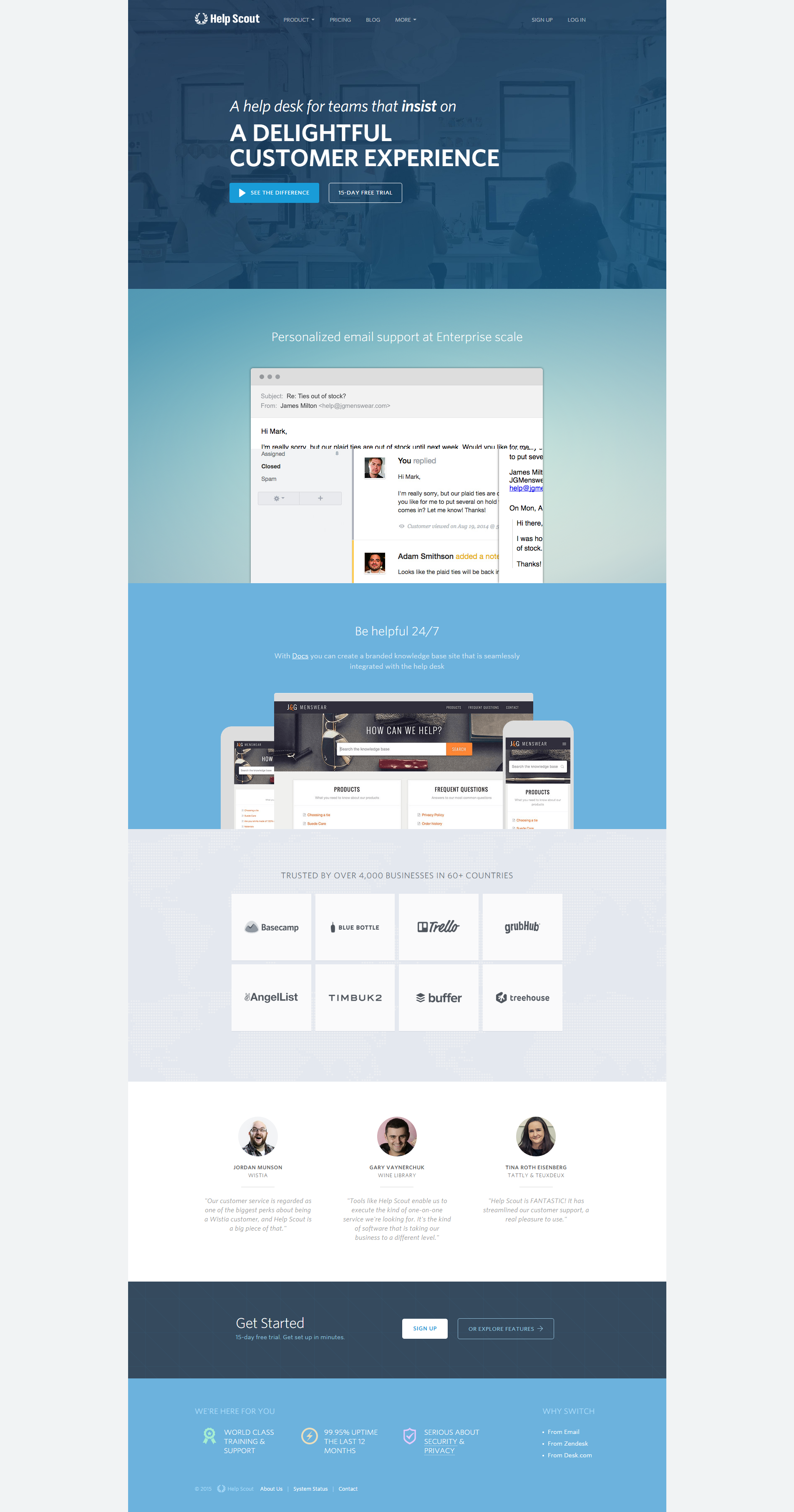 Help Scout Customer Experience Web Design Help Desk