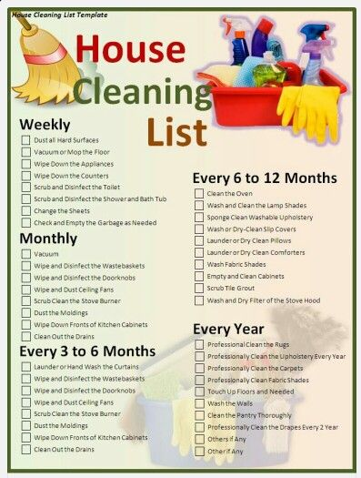 Spring Deep Cleaning Schedule