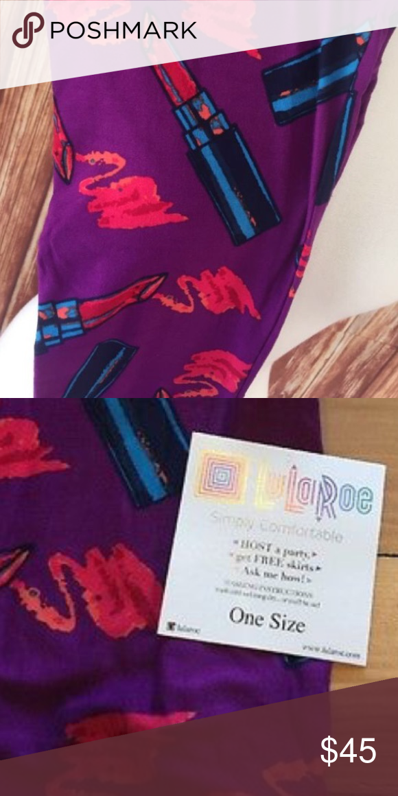 20657b2556f5f8 lularoe unicorn os. one size. purple background. new. lularoe unicorn. purple  background. lipstick foreground. cosmetology. pet free smoke free home.