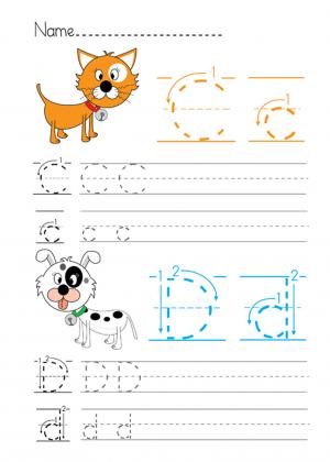 alphabet practice c d printable worksheets worksheets and phonics. Black Bedroom Furniture Sets. Home Design Ideas