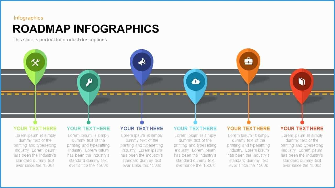 Free Product Development Roadmap Template Awesome Roadmap Infographics Powerpoint And Keynote Template Templ Roadmap Infographic Roadmap Powerpoint Templates Free product roadmap template powerpoint