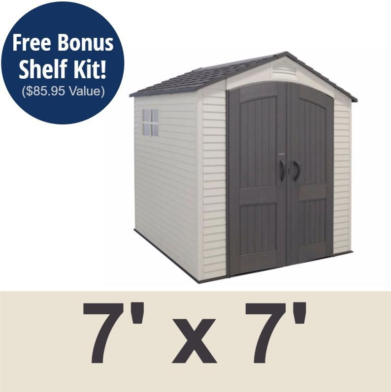 Lifetime 60042 Lifetime 7 X 7 Shed On Sale With Fast Free Shipping Lifetime Storage Sheds Outdoor Storage Sheds Outdoor Garden Sheds
