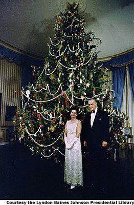 Whitehouse Christmas.White House Christmas Tree President Johnson Lbj And Lady