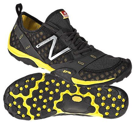New Balance shoes with Vibram soles. They fit your foot like a glove.