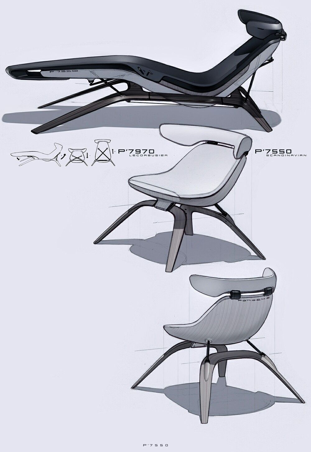 Industrial design sketches furniture - Product Sketch