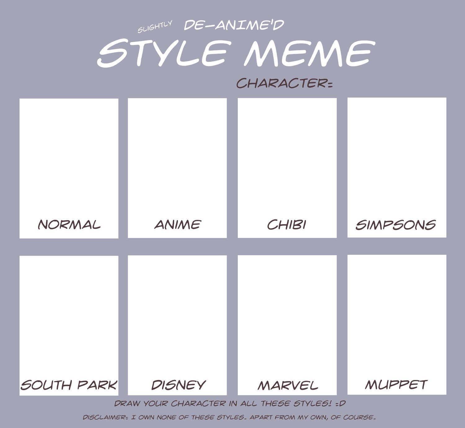 Drawing Character Style Template Google Search Memes And