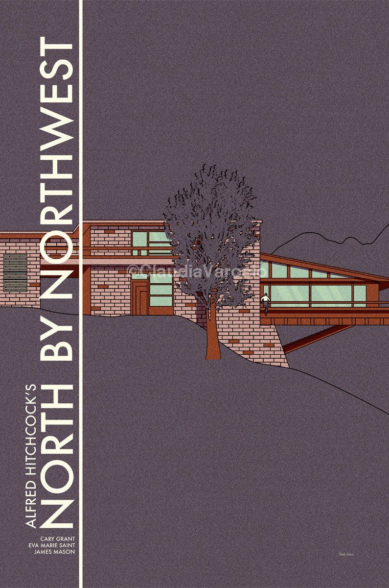 north by northwest 1959 minimal movie poster by. Black Bedroom Furniture Sets. Home Design Ideas