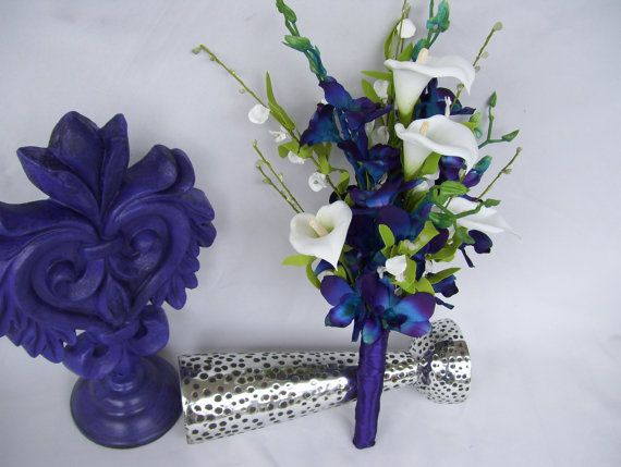 Carlie's Bridesmaids Bouquet Blue Violet by ...