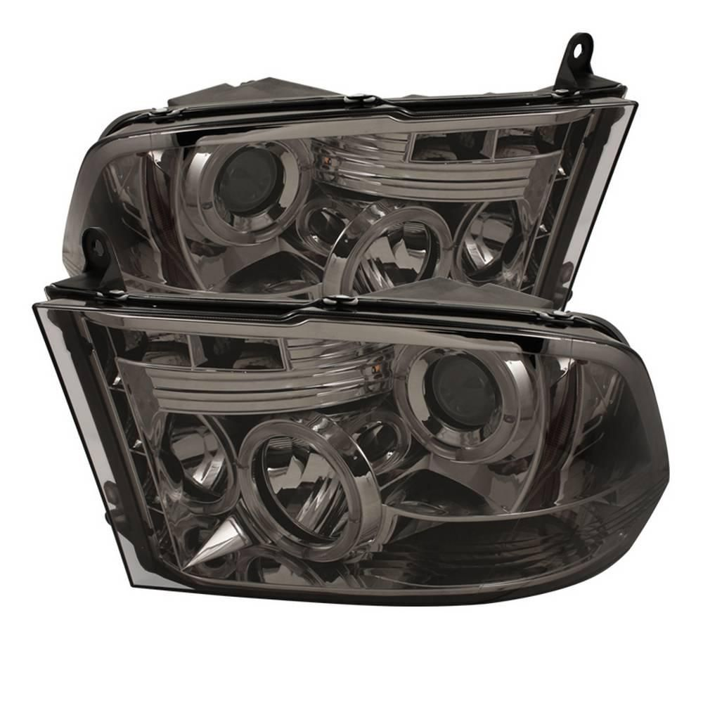 Spyder Auto Dodge Ram 1500 09 16 Ram 2500 3500 10 16 Projector Headlights Halogen Model Only Led Halo Smoke Projector Headlights Led Projector Dodge Ram 1500