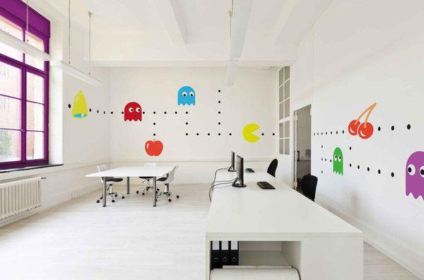 Stickers pac man éléments bureaux start up kollori