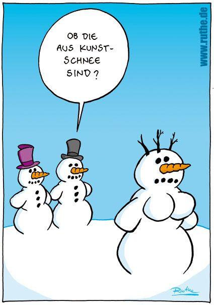 Schneemann Schneemanner Winter Schnee Kunstschnee Lustige Weihnachtsbilder Witze Weihnachten Zeichentrick Bilder