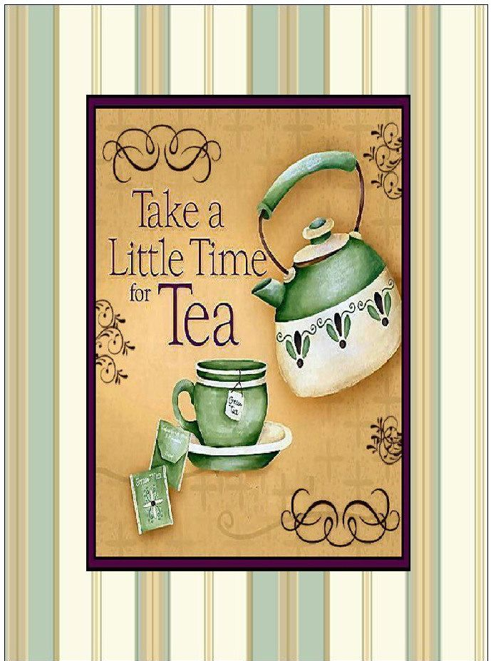 Inspirational Friendship tea time print wall decor, quote ...