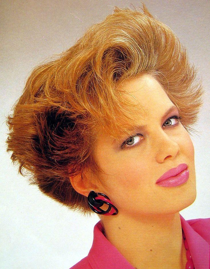 coiffure courte structuree 1980s | Année 80 | Coiffure, Coiffure courte et Années 80