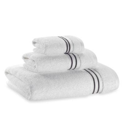 Wamsutta Hotel Micro Cotton Bath Towel In White Grey Green Bath