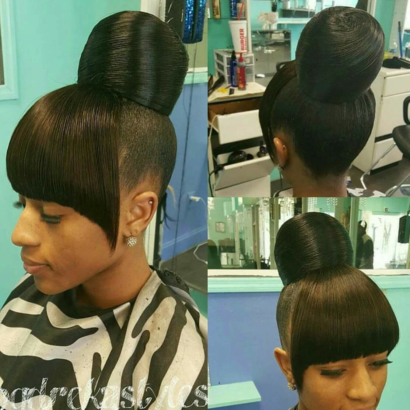 chinese bangs and bun … | pinteres…