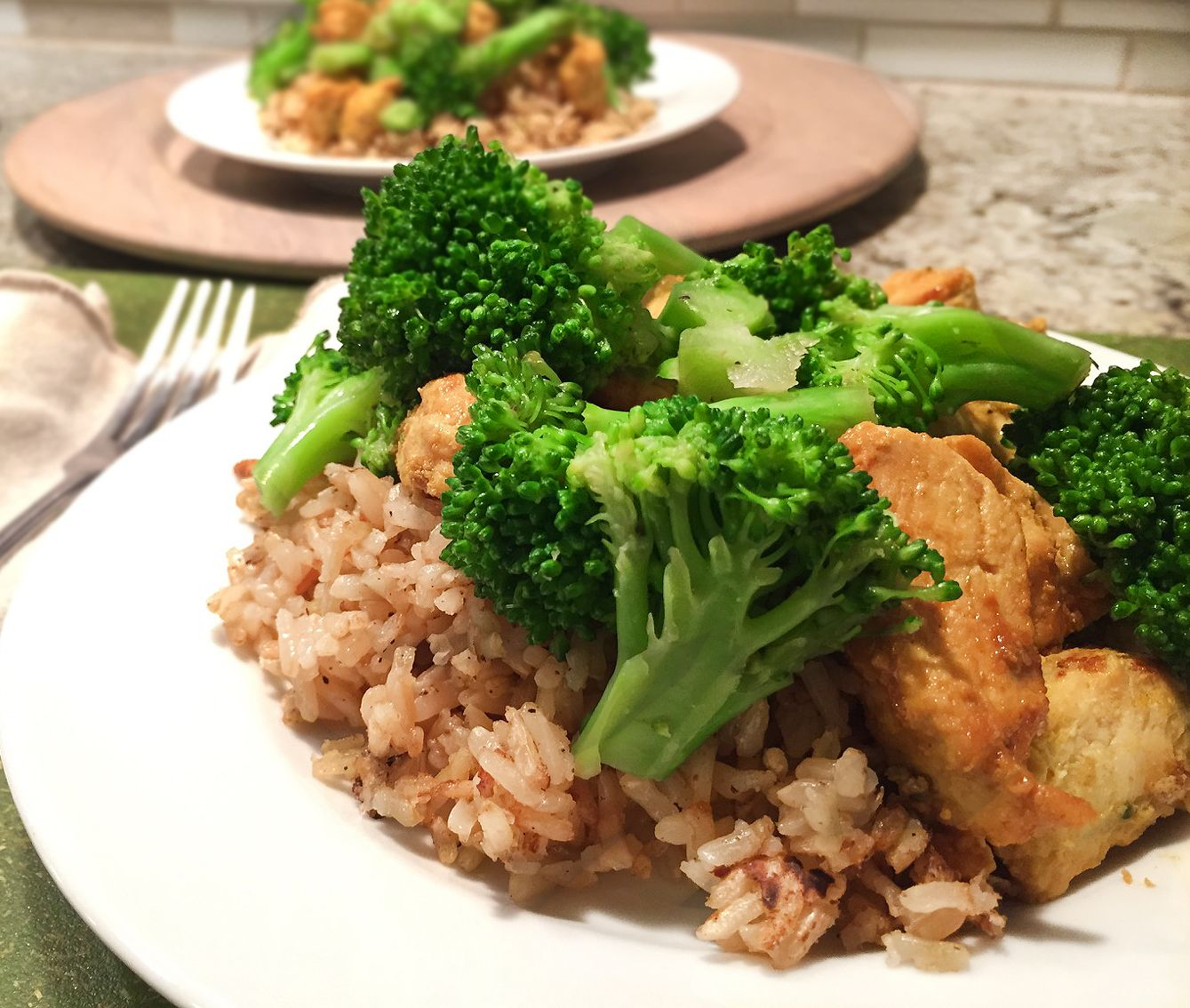 Healthy And Clean Eating! Orange Ginger Chicken Dinner