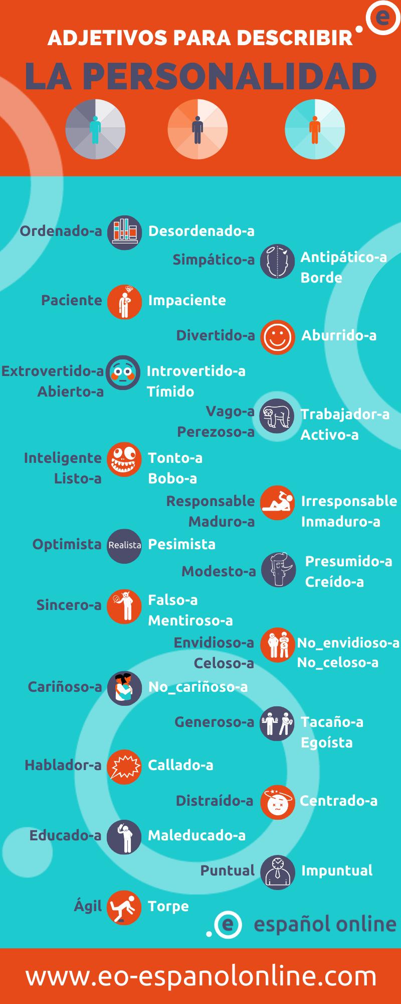 Adjetivos Para Describir La Personalidad Como Eres Eo Espanol Online En 2020 Adjetivos Para Describir La Personalidad Adjetivos Adjetivo