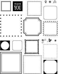 The Vault - Borders & Corners {Square} Stamp Set