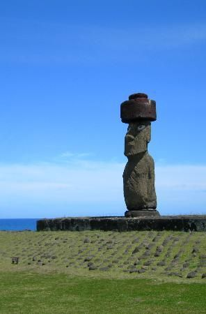The only Moai with eyes (restored)