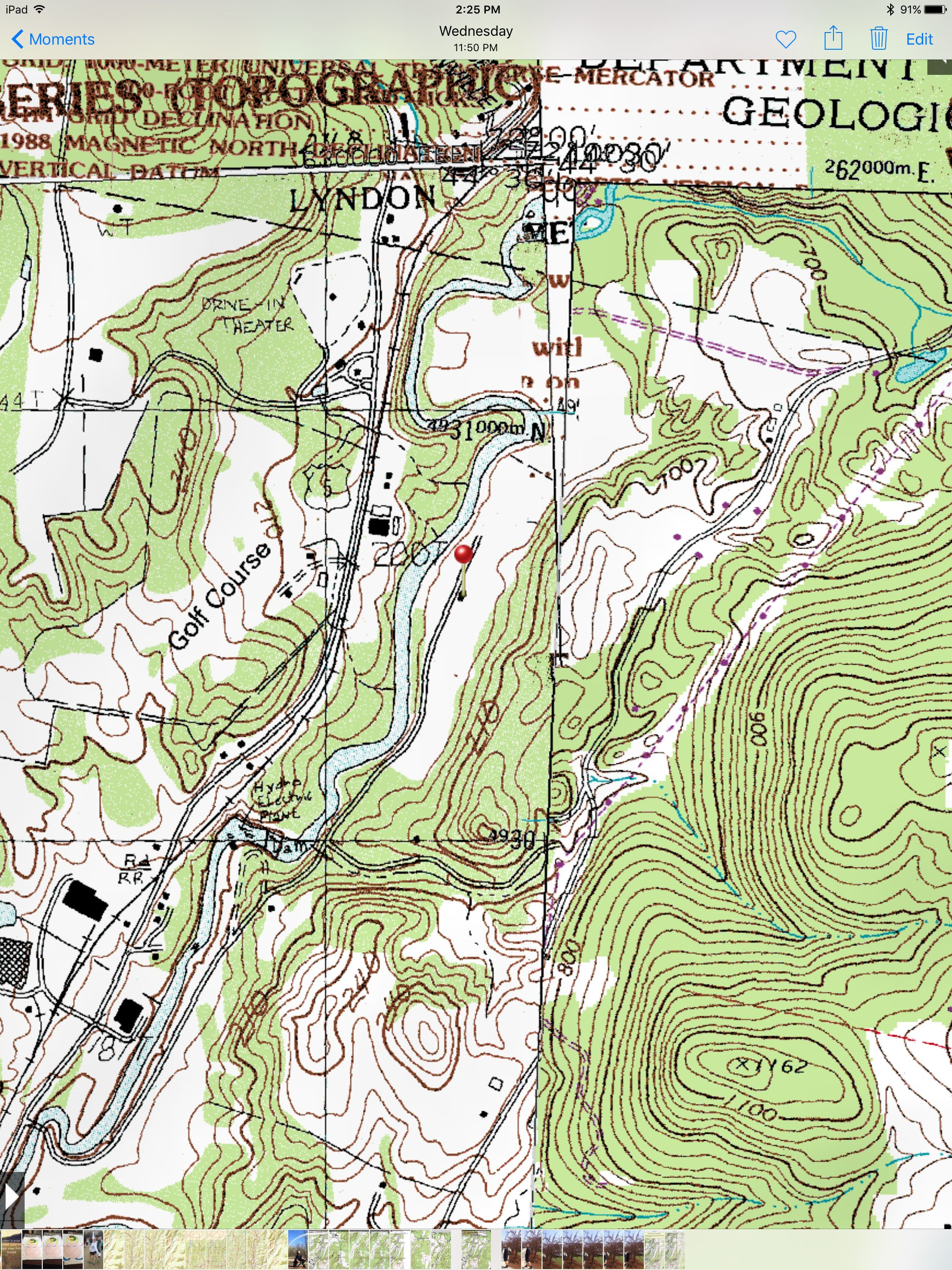 During Hunter Education we use topographic maps in