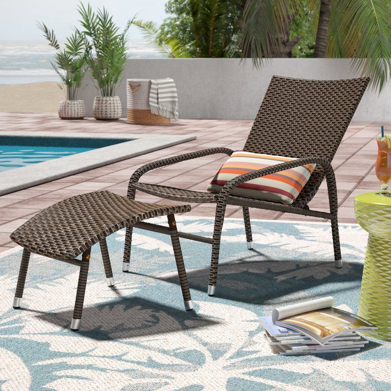 Harmony lounge chair with ottoman wicker patio furniture