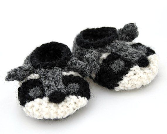 2d8976afb5c40 Wool Baby Raccoon Shoes | Products | Baby raccoon, Baby slippers ...