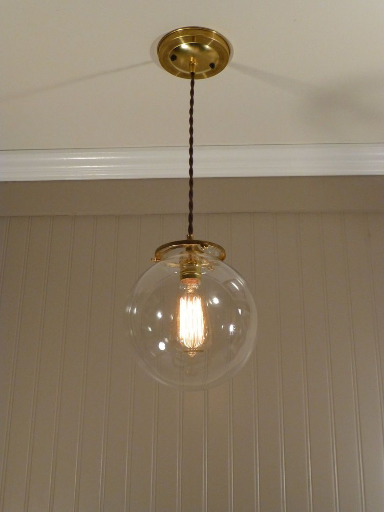 8 Clear Round Gl Bubble Globe Br Chandelier