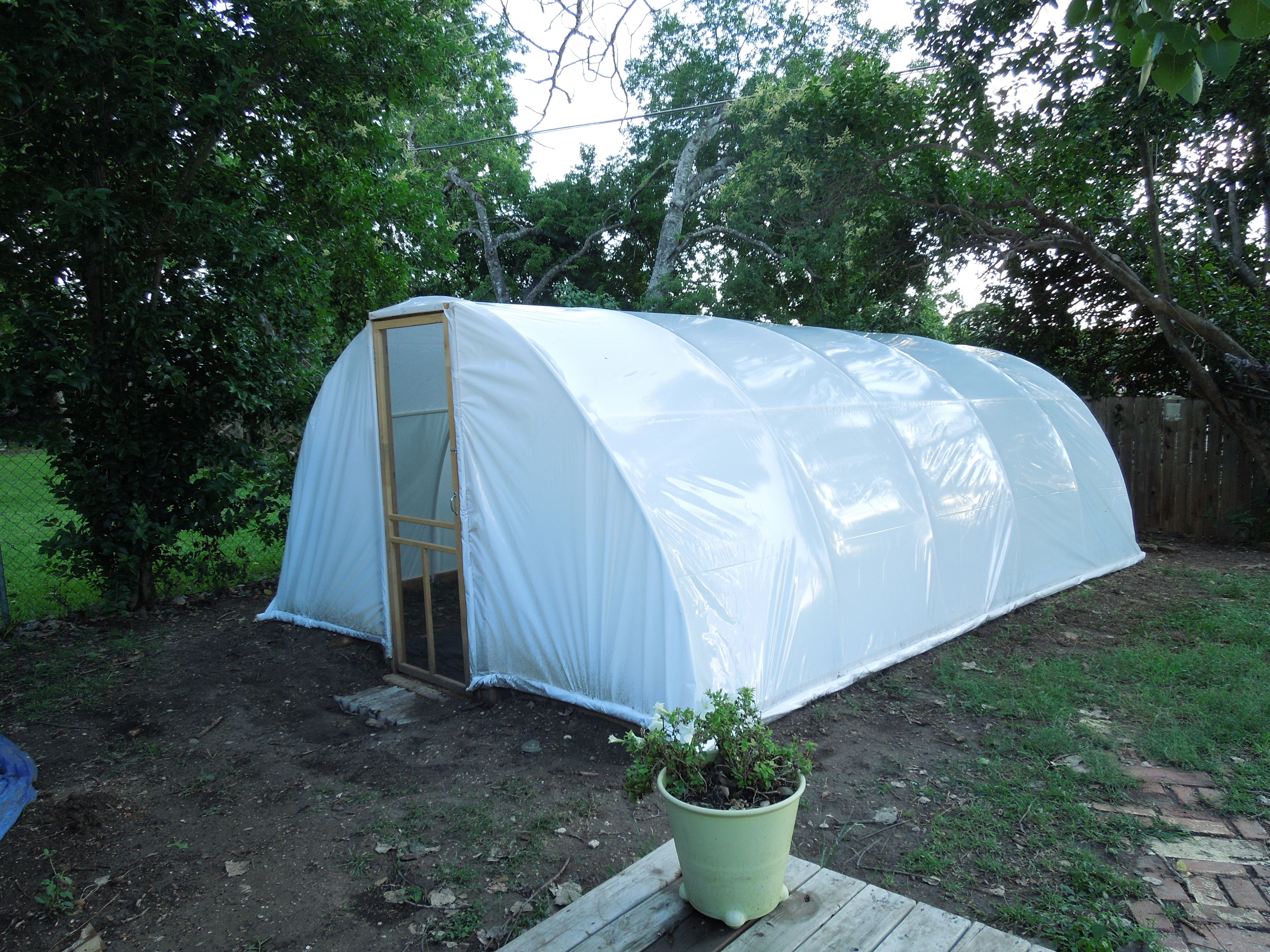 the green house we built in our backyard saving the planet