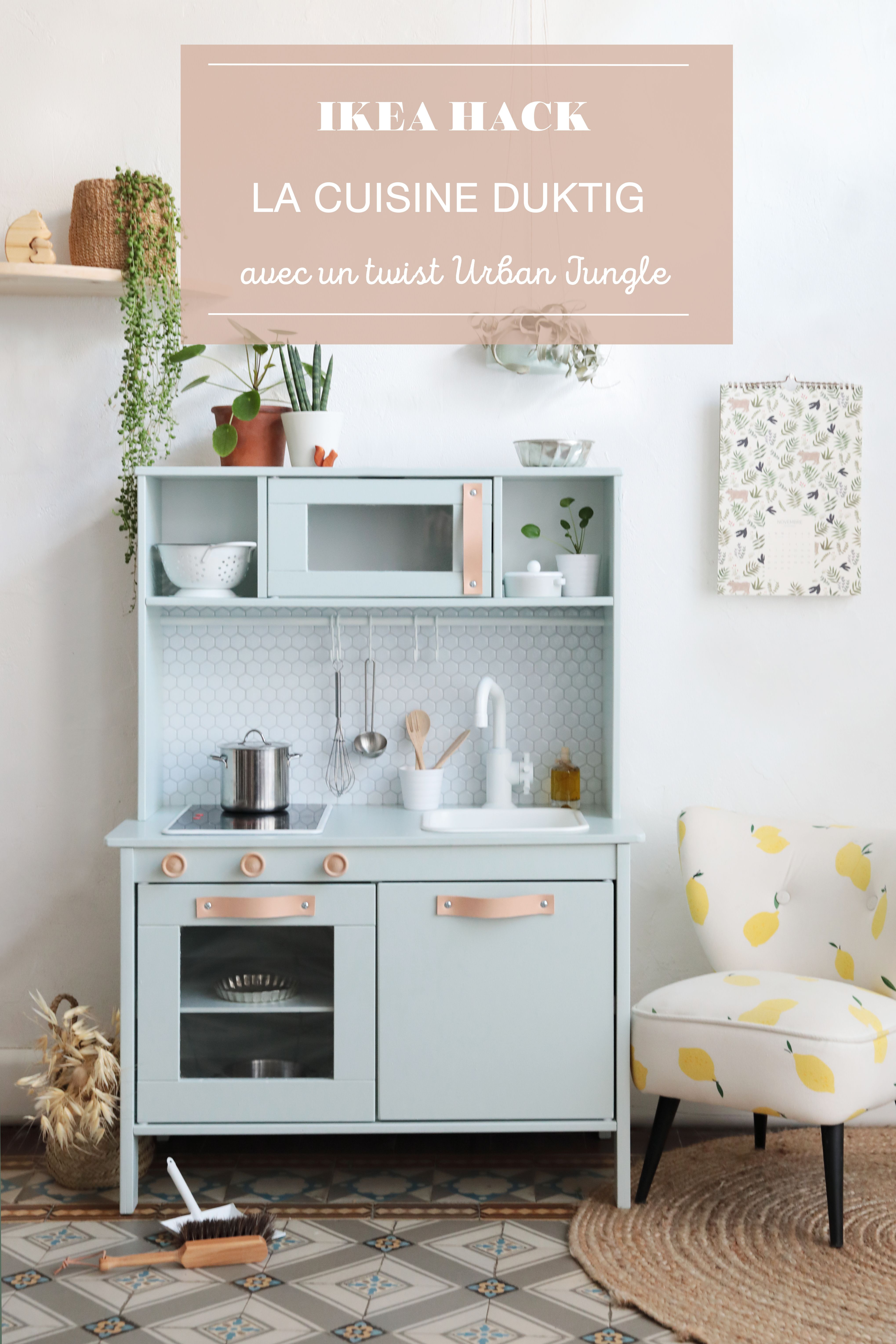 ikea hack comment relooker la cuisine pour enfant duktig pinterest dulux valentine. Black Bedroom Furniture Sets. Home Design Ideas