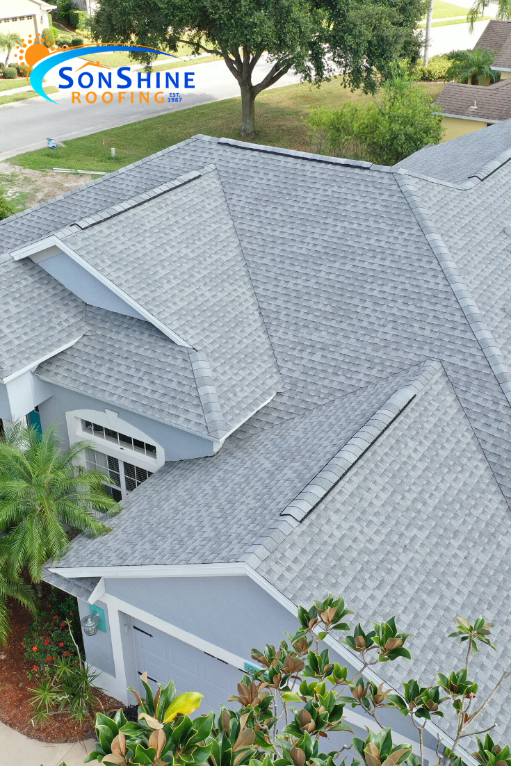 Another Awesome Roofing Job Here In Sarasota This Is A Gaf Timberline In Oyster Gray In 2020 Roof Shingle Colors Roofing Roof Colors