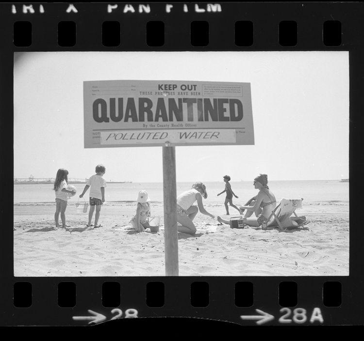 Quarantined Water Signs California History Vintage Los Angeles