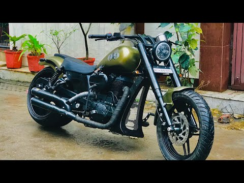 Royal Enfield Modified Bike Modification Into Harley Davidson I Rideofy Vampvideo Youtube Royal Enfield Modified Royal Enfield Harley Davidson