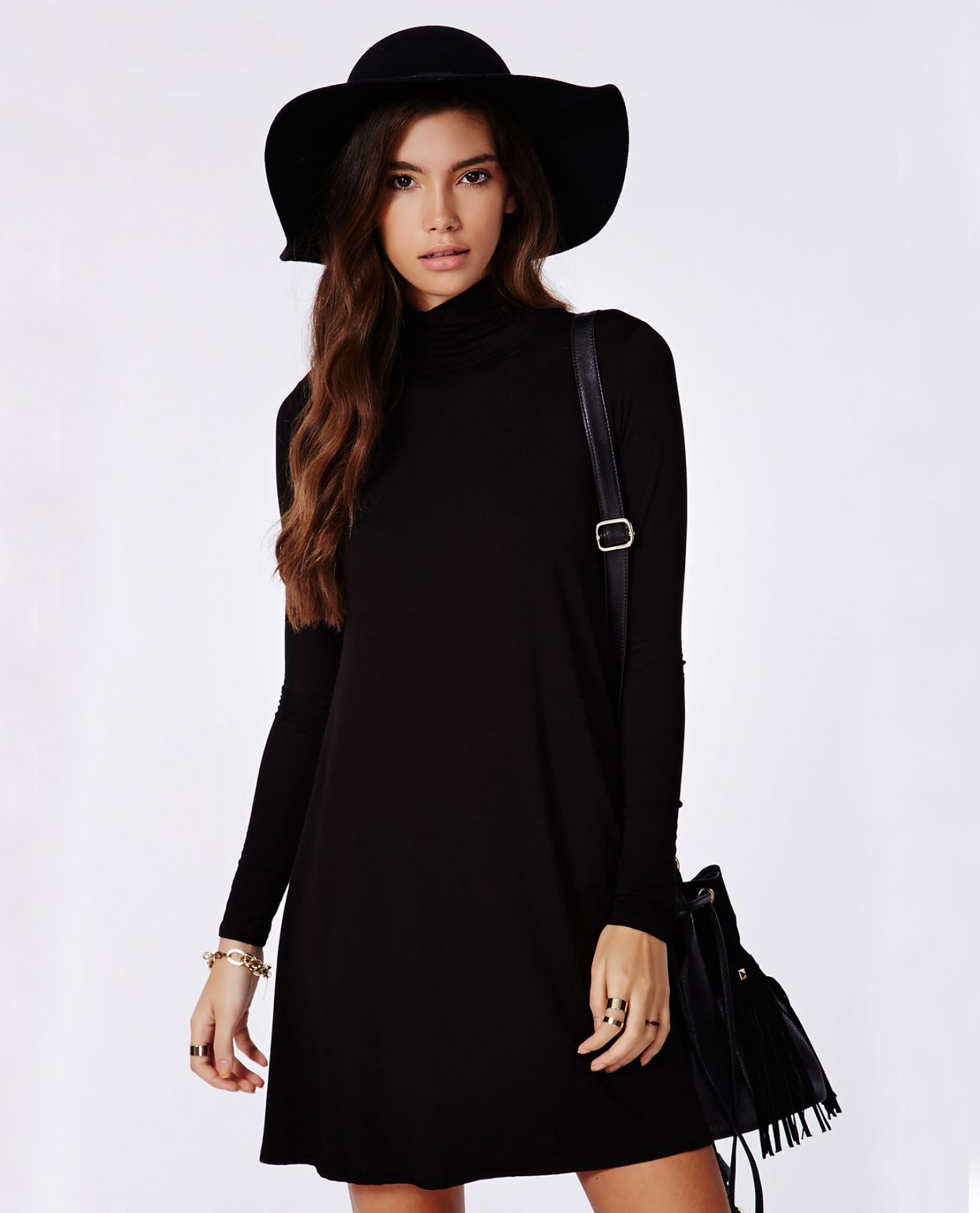 Black long sleeve casual dress fashion pinterest black