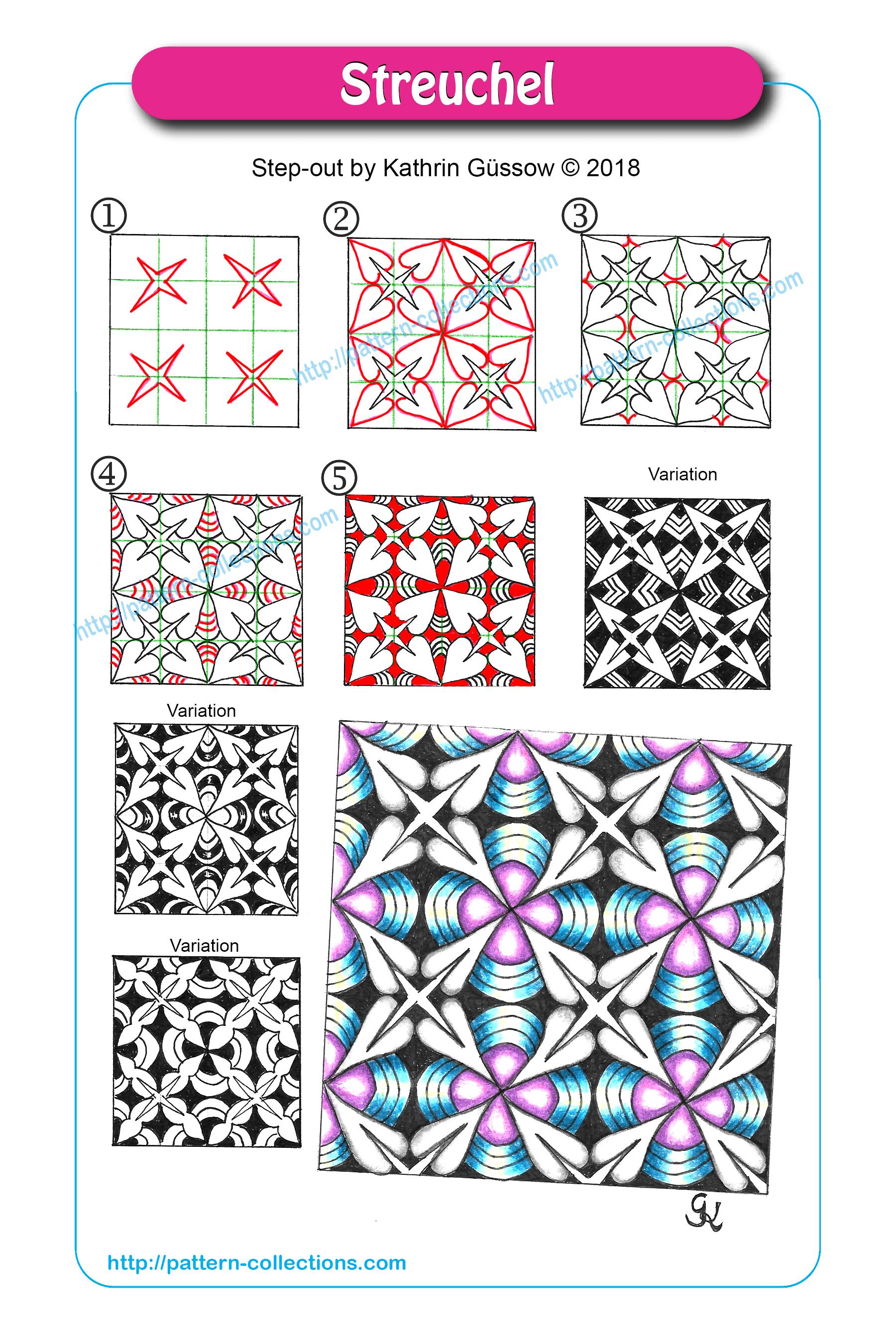 Streuchel By Kathrin Gussow Png 1800 2700 Zentangle Muster Musterkunst Kritzeleien