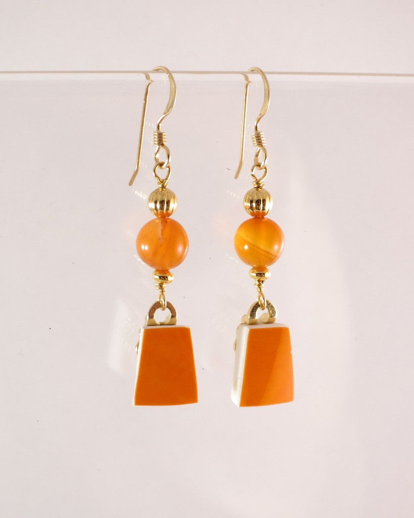 【Mio Earrings (3-1273) – #NozomiProject】#Recycled #BeautyFromBrokenness #GivingHope #リサイクル #のぞみプロジェクト #東北