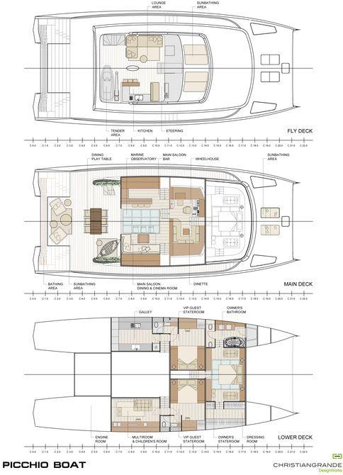 Picchio Boat plans | Boat | Catamaran, Boat building plans ...