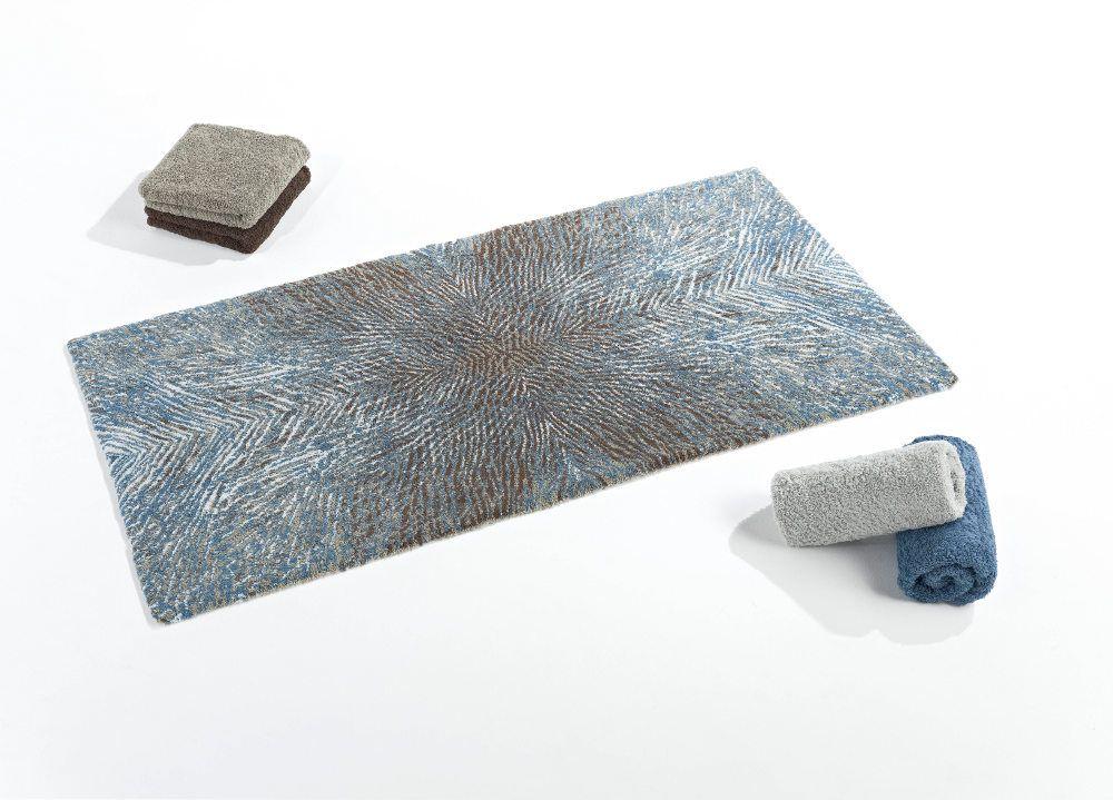 Abyss Habidecor Bird Modern Pattern Bath Rugs In Blue Grey Adorable Designer Bathroom Mats Design Inspiration