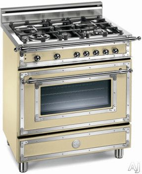 Bertazzoni H304ggvcr 30 Inch Traditional Style Gas Range With 4 Sealed Burners 2 9 Cu Ft European Convection Oven Manual C Vintage Stoves Kitchen Gas Range