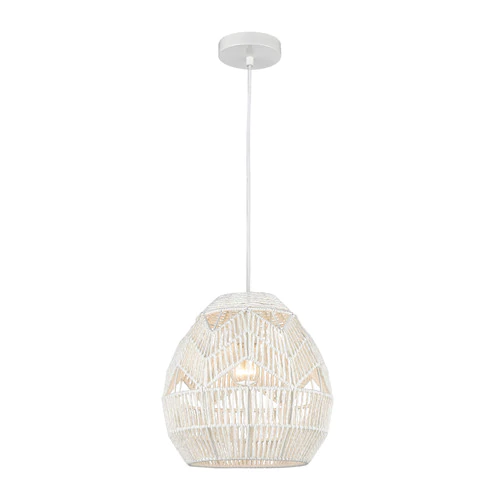 Boho Style In Back Perfectly On Trend The Boho Pendant Lighting Is Woven By Hand From Paper Rope By Highly Skil Elk Home Boho Lighting Bedroom Light Fixtures
